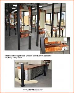 commercial metal furnishing in Denver Colorado Salon