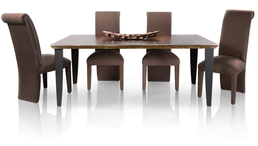 COMBO_Rectangle Dining Set_Luxé Edge_Barracuda_Legs-Tappered-TXT BLK_CH220-01_AR-1