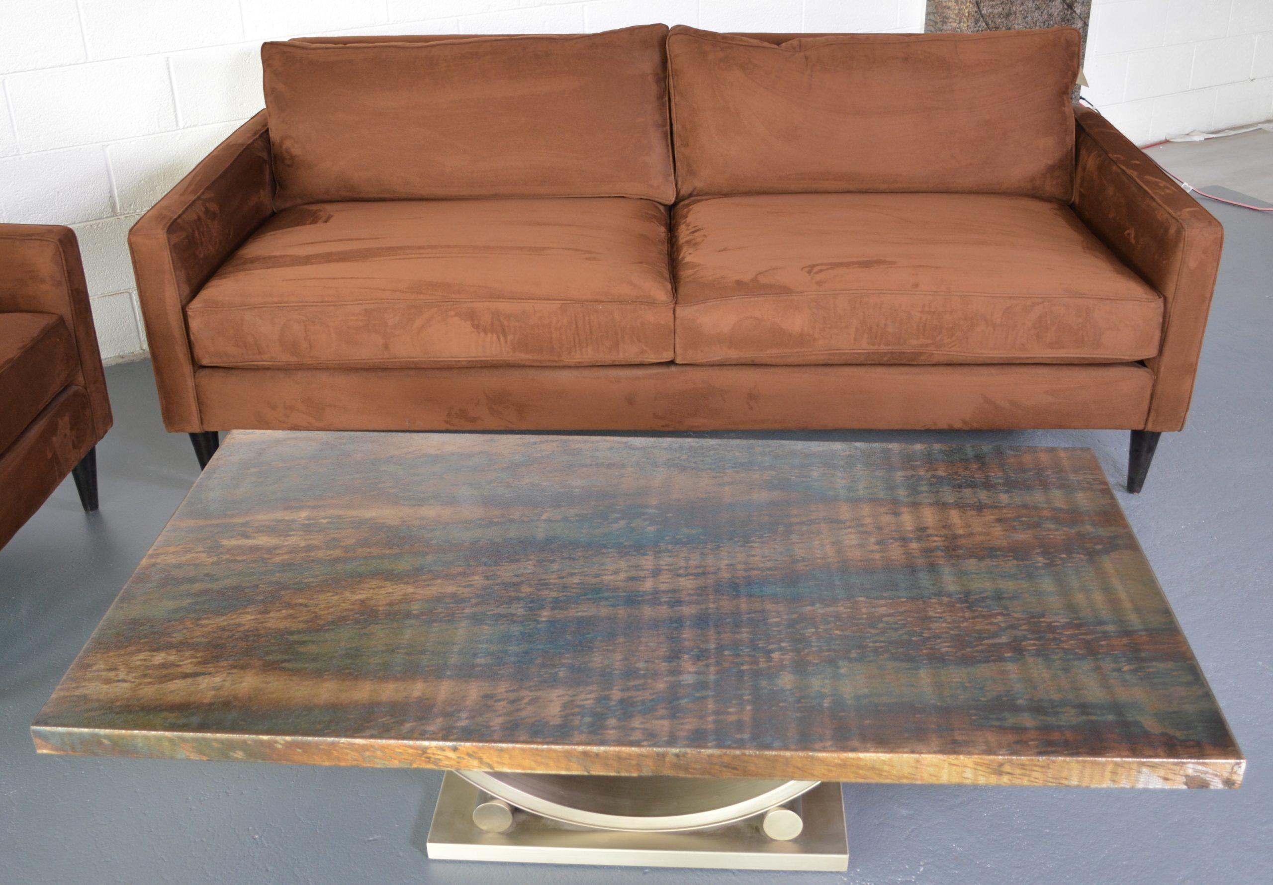 Micro Fiber Sofa Chair Oios Metals